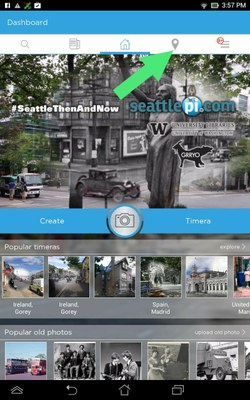 Timera app: select map