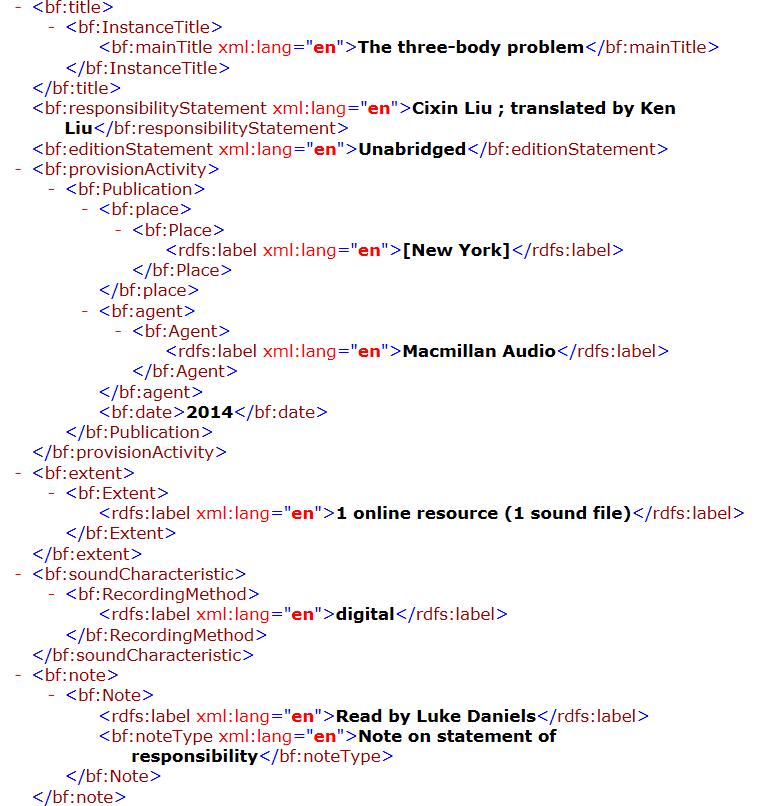 RDA Input Form - bibframe
