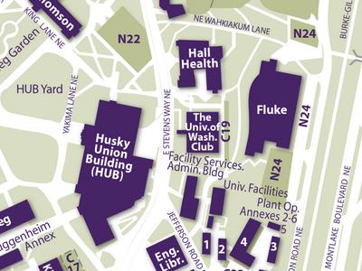 Fluke on Campus Map