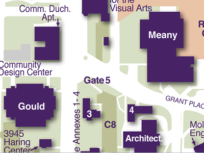 Gould Hall on Seattle Campus Map