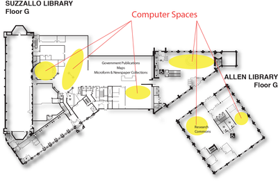 Computer Spaces Suzzallo/Allen floor G