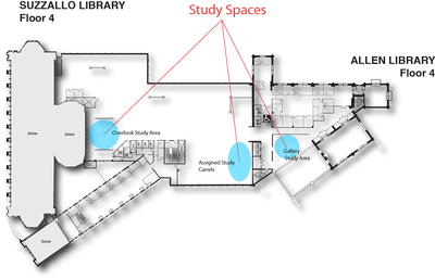 Study Spaces Suzzallo/Allen floor 4