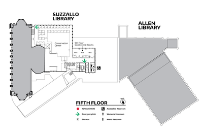 Suzzallo/Allen Fifth Floor Map