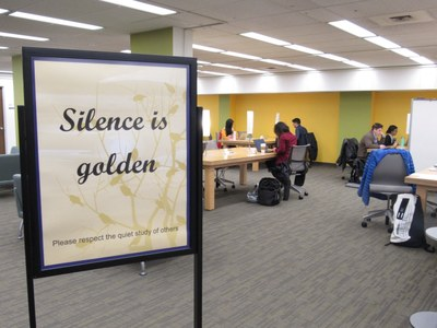 Health Sciences Library silent study area