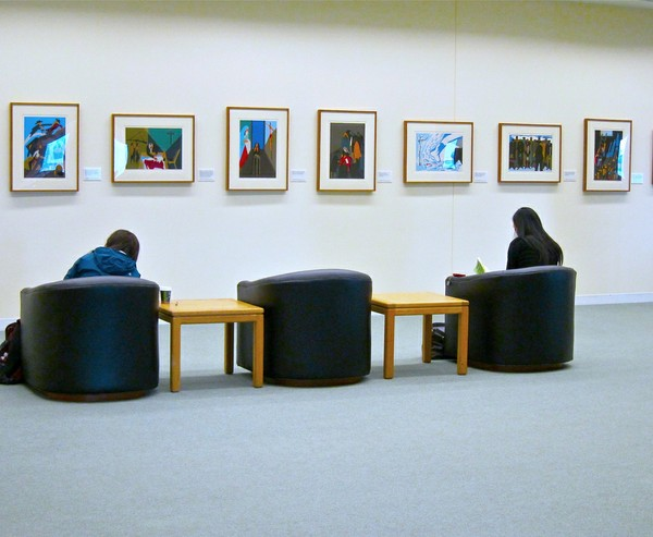 Allen Library 4th Floor Gallery Study Area A