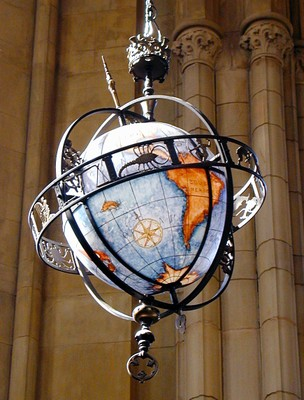 Globe light fixture- Suzzallo Reading Room
