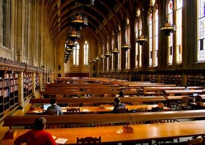 Reading Room in Suzzallo Library A
