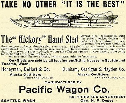 hickory hand sled